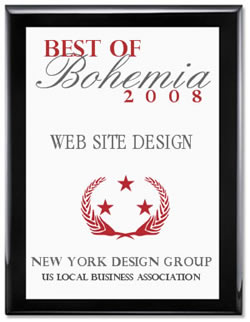 Best Of Bohemia 2008 - Web Site Design Award - New York Design Group